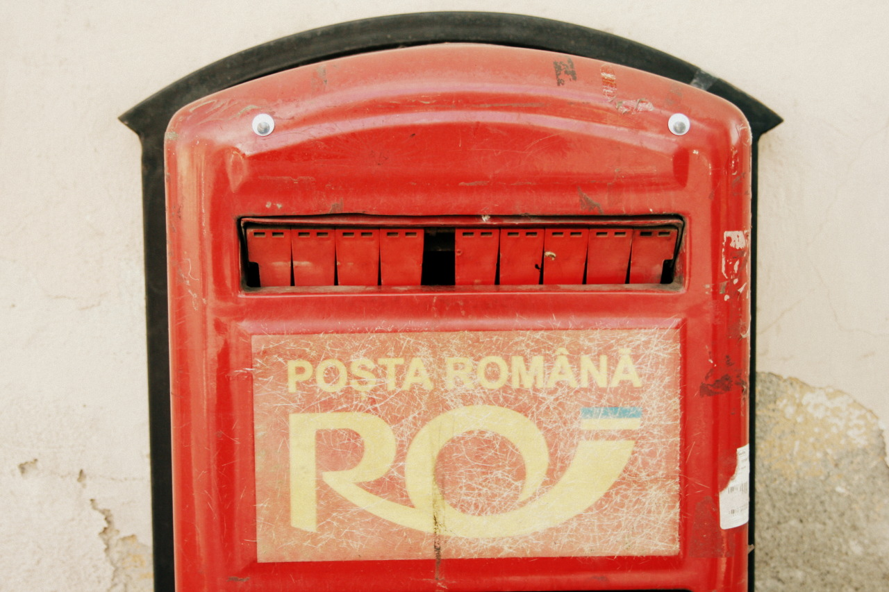 A humanizes postal box in Oradea, Romania.