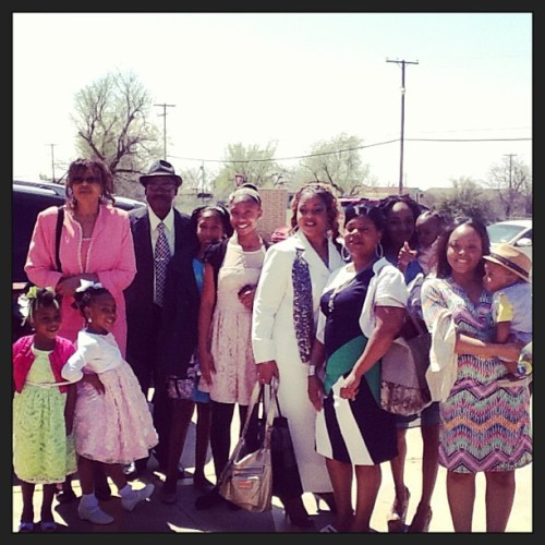 The fam after church today…#Easter #Sunday 2013