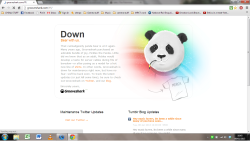 This made it okay that Grooveshark is down