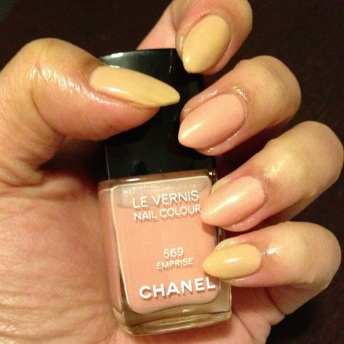 color change. #nailsdid #nails #Chanel #Emprise #Beige #nailpolish