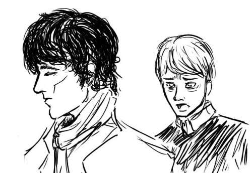 I waited for three years!  Johnlock for Henkersbraut!  Sorry it took so long, and I'll try and get your Bioshock request done sooner, rather than later, too! <3  Thank you for being so patient with me owo