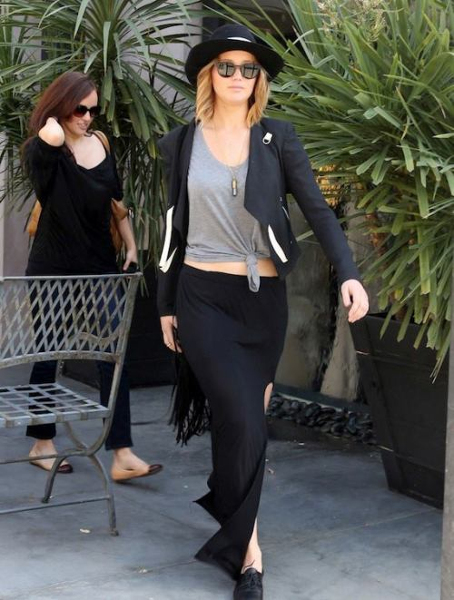 Jennifer Lawrence recently spotted wearing her Barton Perreira Byron sunglasses while out shopping in West Hollywood