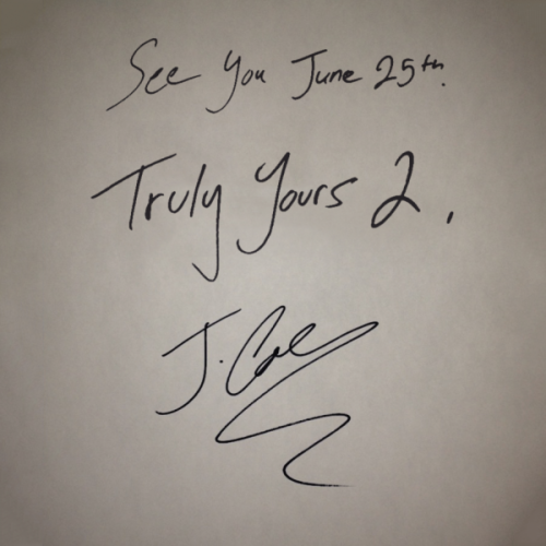 New EP: Yours Truly 2 - J.Cole  More soul searching and mind blowing music from yours truly- the Rocnation first prince J. Cole. Still humble in his lyrics he mentions throwing 4's beside Hov as he throws 50's; Cole hits us with his sequel to his EP Truly Yours with about 16 hours of anticipation. Much like the first, it is filled with some very dope tracks that Cole World had stored in his vaults, including ones featuring Southern vets like Young Jeezy and 2 Chainz. Look out for his Debut Album June 25th 'Born Sinner'.   Download Here