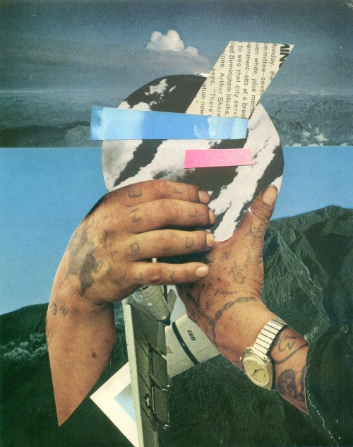 "collageartbyjesse:  ""lonewolf"" vincent griffin collab www.landandshape.com/ society6 tumblr facebook twitter"