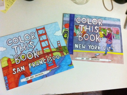 Color This Book New York City UCB Coloring books Chronicle Books Abbi Jacobson Illustration NYC