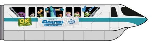 andrew-jason:  NEW MONSTERS UNIVERSITY MONORAIL!!!!:D:D:D