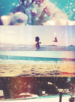 Harry Styles at the beach. {x}