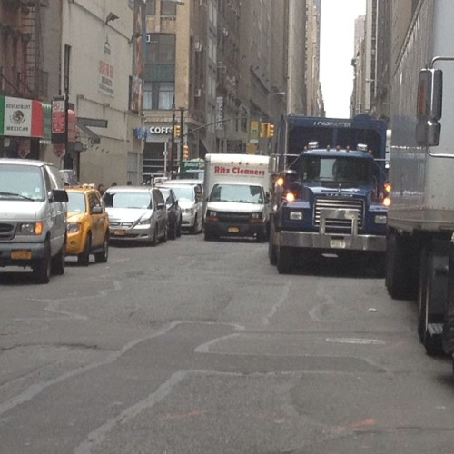 trucks trucks trucks. #nyc #manhattan