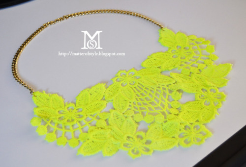 This DIY Neon Lace Necklace tutorial from A Matter of Style is perfect for Spring (and perfect for your pockets!)