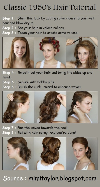 miss-ella-page:  pinmeupvintage:  Classic 1950's Hair Tutorial! Enjoy!   I AM SO GONNA DO THIS!