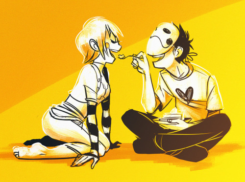 birdarangs:   raketamira asked you:  you should draw sugar and zacharie!!   :')