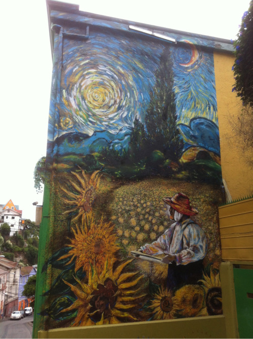 zoo42:  Van Gogh style street art by Teo Doro in Valparaiso, Chile.