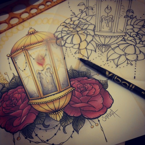 sophieadamson-rodjaasexface:  Finally tattooing my lantern design today :)