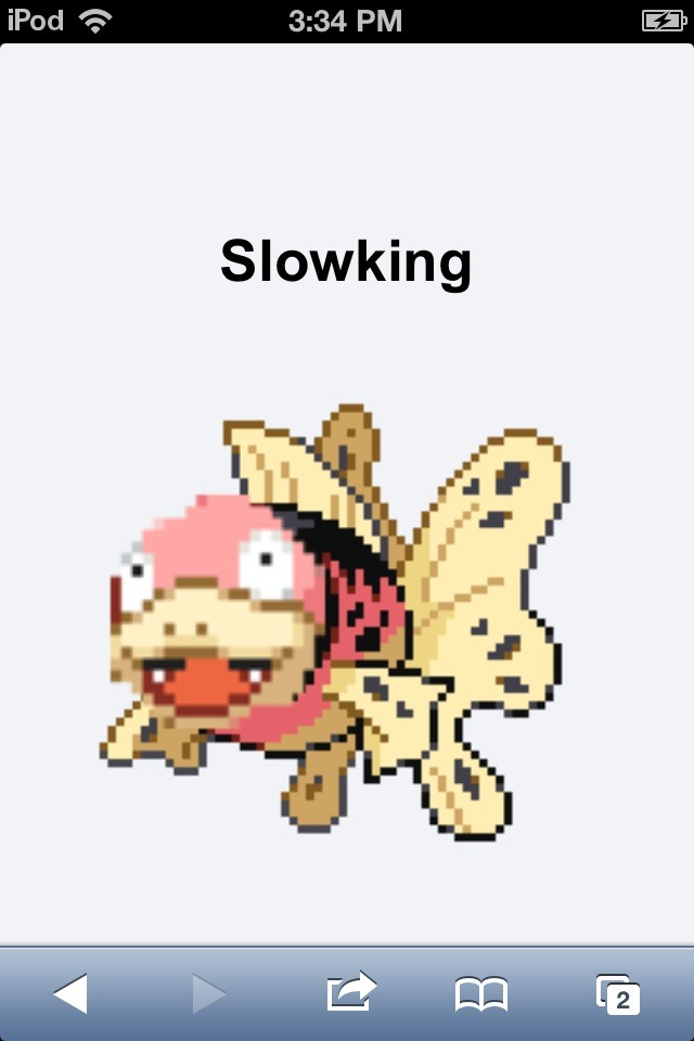 THATS NOT A SLOWKING EITHER