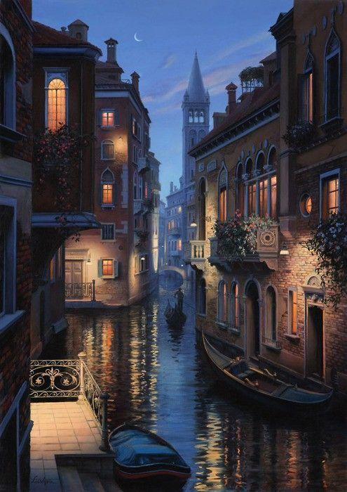 Late Night, Venice, Italy. Beautiful