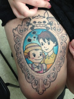 fuckyeahtattoos:  Friend of mines unfinished but I love it so much! Totoro :) art and soul in alabama