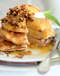 Peach Cobbler Pancakes-13 by Sonia! The Healthy Foodie on Flickr.