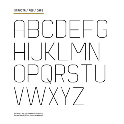 Structr is my new free font release, it is a rounded sans font. Get it now :)Download Here