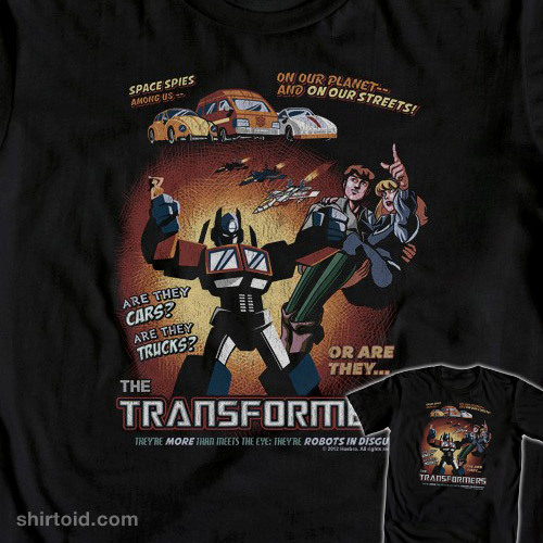 Retro Transformers by Ninjaink is available at WeLoveFine