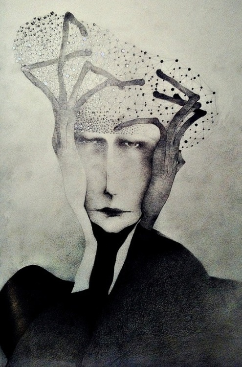 artgif:  Man With Hat Made Out of Stars, Sonja Barbaric