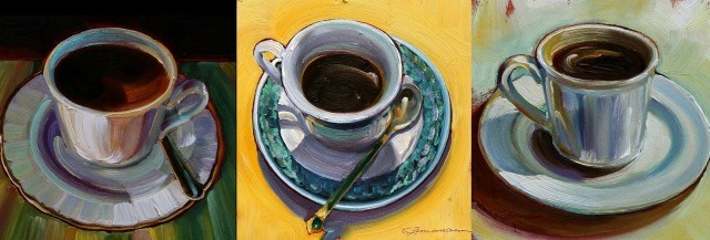 "fuckyeahcarolinezimmermann:   ""Turkish Coffees I, II, & III"" by Caroline Zimmermann"