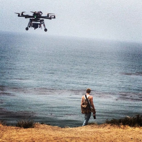 codysimpsonupdates:  itsmattgraham: Helicopter cams make everything cooler! (@codysimpson video shoot w/ @youngastronaut)