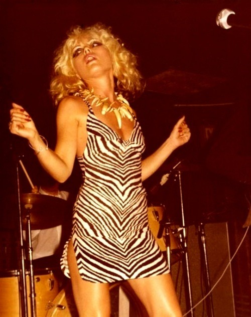 Debbie Harry on stage.