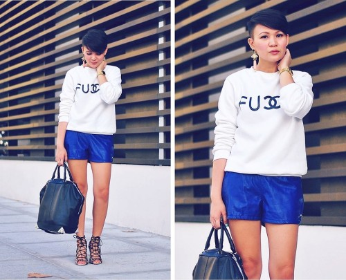 Who Gives A Fu*k?! (by Kookie B.)MORE DETAILS ON THE BRANDS I'M WEARING OVER AT:  http://deathbyplatforms.blogspot.com/2013/05/who-gives-fuk.html  Follow me on Instagram and Twitter: @kookiebuhain