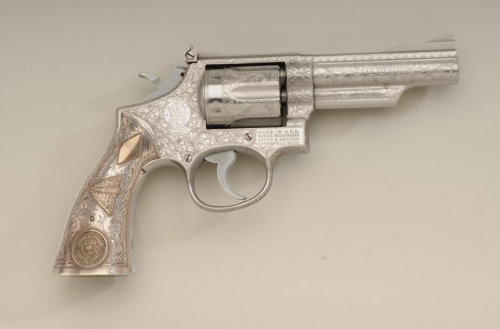 Smith and Wesson Model 66 Revolver.