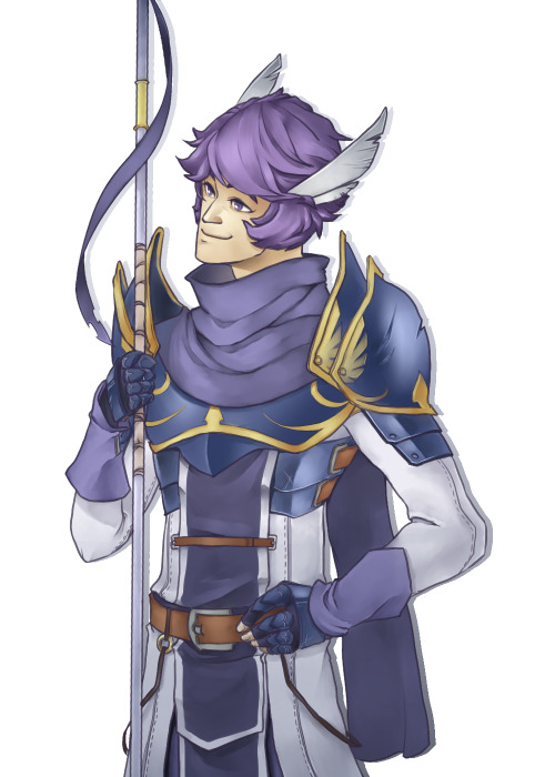 so we got a lady xmas cavalier and a lady merc in fe:a maybe boy pegasus knights next game…?! so here is Darius, Marquess of <insert pegasus infested country here>.