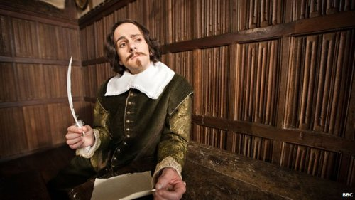 "mediumaevum:  Horrible Histories cast to make Shakespeare movie If you like your history with the foulest and funniest bits left in, get this: the people behind CBBC's Horrible Histories are making a new film, Bill. It's a tale of murderous kings, spies, lost loves, and even includes a plot to blow up the Queen, Elizabeth I. The people behind the film say they think the Bard would like the comedy ""…apart from the bit where he's dressed as a tomato."""