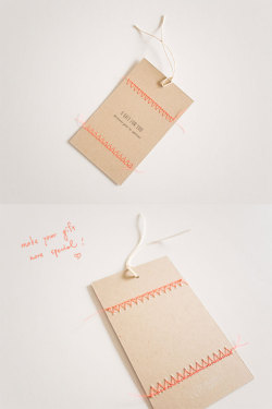 Neon Stitch Gift Tag by Lemonni http://lemonni.com/productionroad/2013/03/neon-stitch-gift-tag/