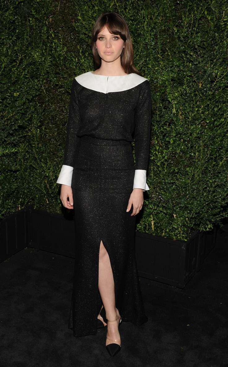 Chanel Pre-Oscar Dinner. Felicity Jones