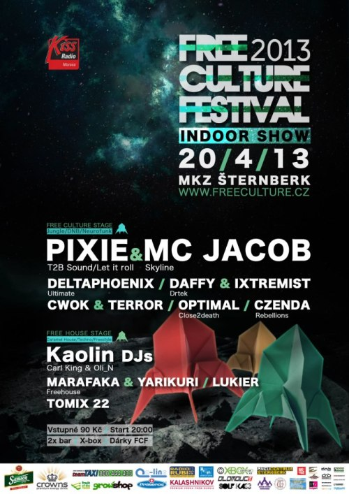 Free Culture festival 2013 presents Indoor show design www.freeculture.cz