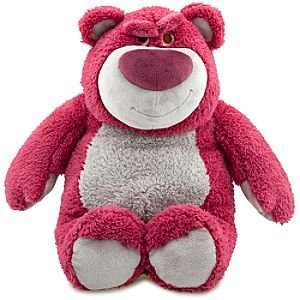 "you know that pink bear from Toy Story?the one that smells like strawberries? we can buy him from Amazonand use him as a ""bulldog"" for when Mikey is being mean ;-)"