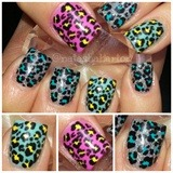 Awesome cheeta nails
