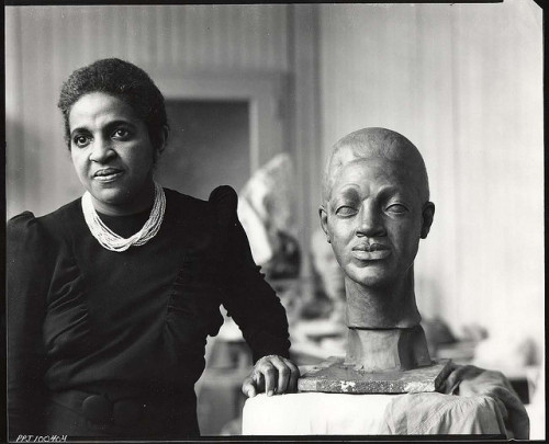 collectivehistory:  Selma Burke in her studio ca. 1900s Selma Hortense Burke is one of the few African-American women sculptors who achieved a high level of national recognition during her lifetime. She received national recognition for her relief portrait of Franklin Delano Roosevelt which was the model for his image on the dime.  She was committed to teaching art to others, so she established the Selma Burke Art School in New York City and opened the Selma Burke Art Center in Pittsburgh, PA. (Smithsonian Institution)