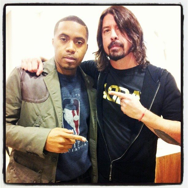 Dave Grohl and Nas photo