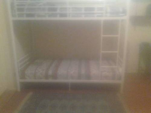 "theworstroom:  Prospect Lefferts Gardens, Brooklyn. ""Looking for two roommates.""  ""Top bunk is $500 per month, bottom bunk is $600 per month."""