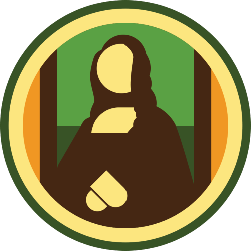 lifescouts:  Lifescouts: Mona Lisa Badge If you have this badge, reblog it and share your story! Look through the notes to read other people's stories. Click here to buy this badge physically (ships worldwide).Lifescouts is a badge-collecting community of people who share real-world experiences online.  In 2008, I traveled with the People to People Program to France, Italy, and Malta. In France we visited the Louvre and I got to see the Mona Lisa! The painting was surprisingly smaller than than I expected but it was still an amazing experience.