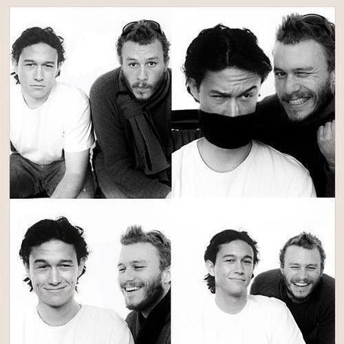 rfbijm:  Love them so much. They so much alike. Heath Ledger was my favorit actor, and Joseph Gordon Levitt so much like Heath. Like they were brothers! Miss Heath smile so much!!