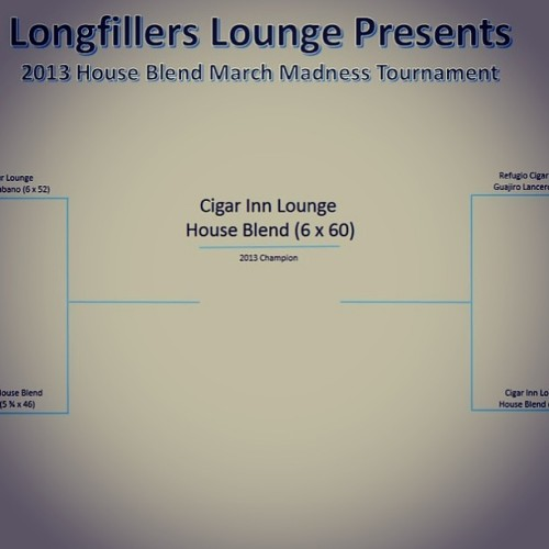Cigar Inn House Blend wins www.longfillerslounge.com March Madness tournament Championship. Thanks to all  who were involved with this tournament , and congrats to all .#cigar #cigars #cigarhub #cigarinn #cigarporn #cigarinnbotl #cigaroftheday #cigaraficionado #cigaraficionados #botl #botlnychapter #sotl #nyc #nycbest #best #1 #houseblendmarchmadnesstournament #longfillerslounge #2013 #houseblend  (at The Cigar Inn)