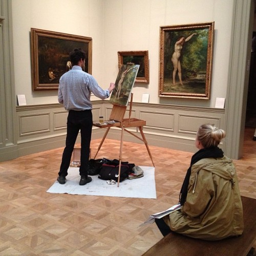 norregardh:  Artist in action #impressionism #art #themet (at The Metropolitan Museum of Art)