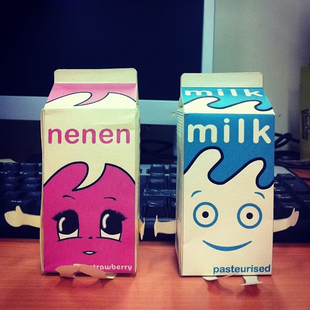 "Why ""Nenen""? #blur #coffeandtv #milk"