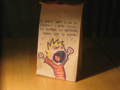 lunch bag art calvin