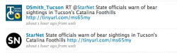 Odd to see the new Tucson Citizen immediately re-tweeting Star tweet.