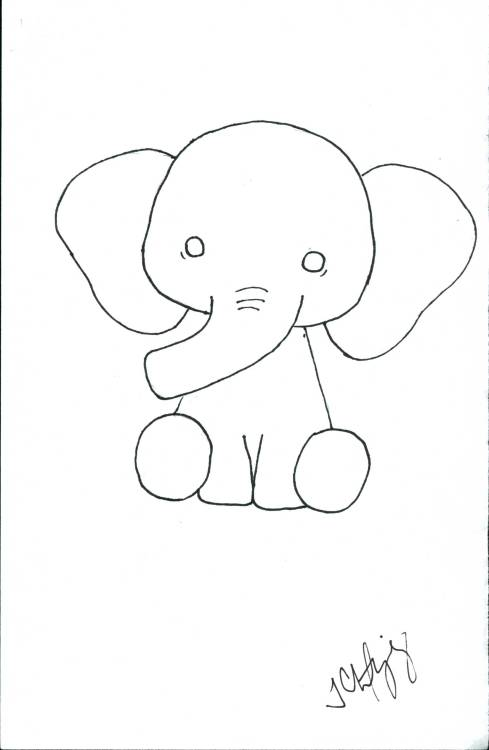my cute lil elephant that I drew for my design class :3