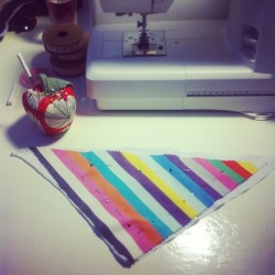 Hand-making baby bibs innit. Rock and roll!