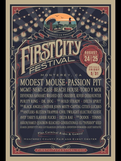 fuckyescalifornia:  Goldenvoice debuts First City Music Festival in Monterey! For more information go to http://www.montereyherald.com/entertainment/ci_23282697/first-city-festival-announced-monterey-featuring-30-band Thanks to http://dosed-by-you.tumblr.com/ for submitting!