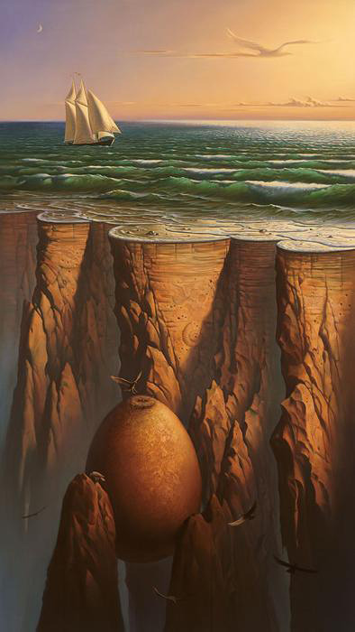 retrateando:  Surrealism Paintings by Vladimir Kush